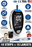 Dr Trust (USA) Fully Automatic Blood Sugar Testing Glucometer Machine with 10 Strips