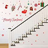Kingko® Merry Christmas Colorful Decorations Wall Sticker Home Shop Windows Decals Removable Decor