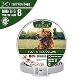 DEWEL 63cm Zecken Halsband für Hunde und Katze, Floh Zecken Kragen Floh-und...