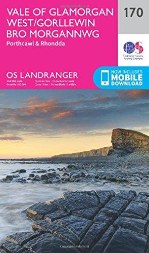 landranger-170-vale-of-glamorgan-rhondda-porthcawl-os-landranger-map
