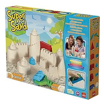Goliath 83219 - Super-sand-set Castle, Modellierbarer Magischer Sand Bringt Burgen Ins Kinderzimmer, Handliche Sandkasten-box, Bunte Burg-förmchen, Ab 4 Jahren 4