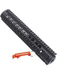 "12"" Aluminio RAS RIS Guardamanos para Airsoft M4 M16 SR16 / SR25 AEG - AirsoftGoGo Llavero Incluido"