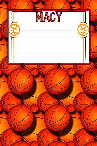 Basketball Life Macy: College Ruled | Composition Book