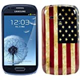kwmobile Hard case Design USA flag for Samsung Galaxy S3 Mini in blue white red