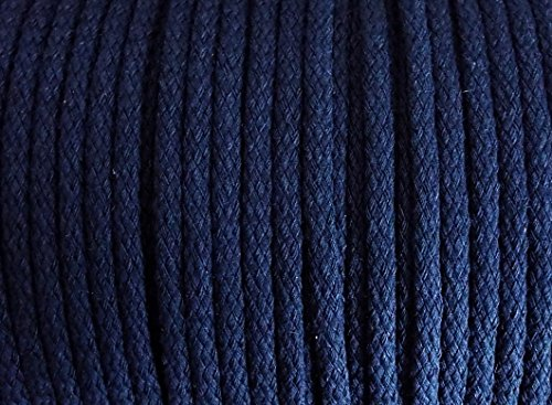 5 m Baumwollkordel 5 mm dunkelblau (Baumwolle Knopf Stricken)