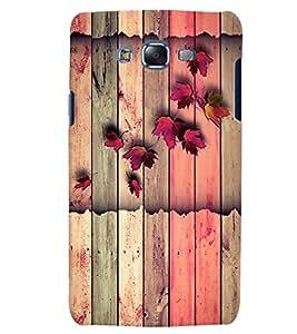 Citydreamz Pink Leaves/Wood/Stripes Hard Polycarbonate Designer Back Case Cover For Samsung Galaxy J7