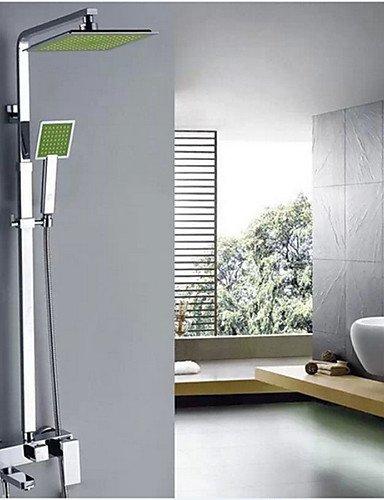 CELO Duscharmaturen - Zeitgenössisch - Wasserfall / Thermostatische / Regendusche / Handdusche inklusive - Messing ( Chrom )