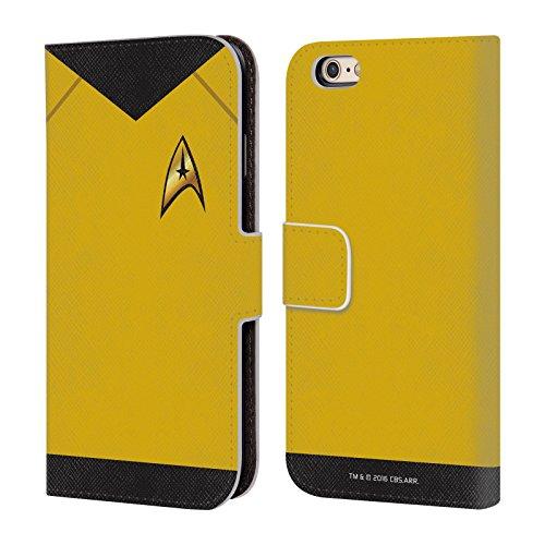 Offizielle Star Trek Befehl Uniformen Und Plaketten TOS Brieftasche Handyhülle aus Leder für Apple iPhone 6 / 6s (Offizielle Uniform)