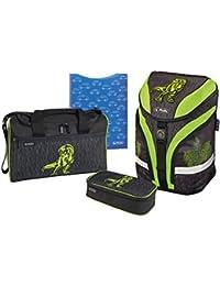 Herlitz Set de sacs scolaires, Green Dino (Multicolore) - 50013685