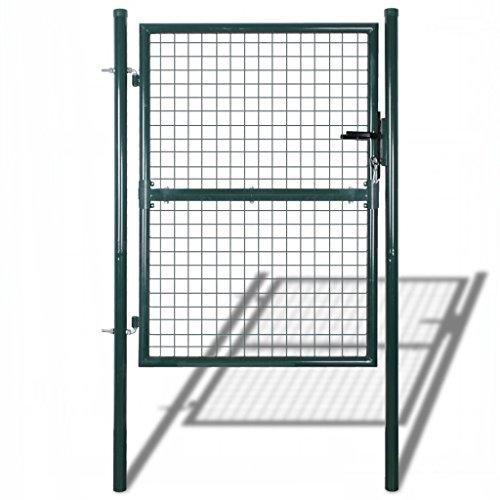 Festnight cancello per giardino in rete metallica 85,5 x 150 cm/100 x 200 cm