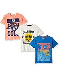 Cherokee by Unlimited Boys' Plain Regular Fit T-Shirt (Pack of 3)