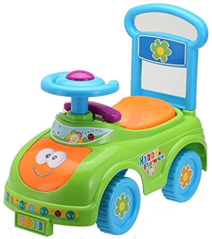 Rutschauto in 10 verschiedenen Modellen - Ein guter und preiswerter Aufsitzwagen Rutschwagen Lauflernwagen Kinderfahrzeug , Modell:Green Cat