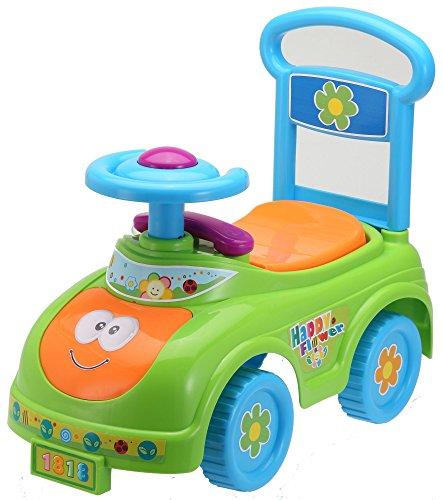 *Rutschauto in 10 verschiedenen Modellen – Ein guter und preiswerter Aufsitzwagen Rutschwagen Lauflernwagen Kinderfahrzeug , Modell:Green Cat*