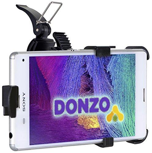 DONZO passiv Fahrrad-Halterung / Motorrad-Halterung für Sony Xperia Z3 Compact - 360° drehbar - Quer-Betrieb möglich - Schwarz