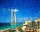 5D Pintura De Diamante Conjunto Diy Hotel Dubai Burj Al Arab Imágenes Taladro Cuadrado Ayudarte A Reducir El Estrés Y Obtener Una Sensación De Logro