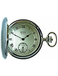 Bernex Swiss Made Mechanical Solid Sterling Silver Engine Turned Full Hunter Pocket Watch