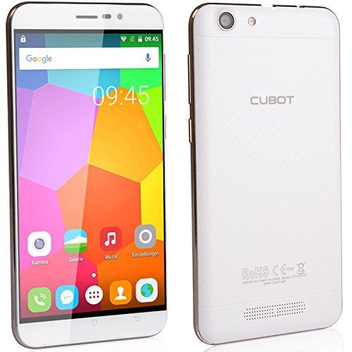 Cubot Dinosaur Smartphone ohne Vertrag (5.5 Zoll (15,2 cm) HD Touch-Display mit 4150mAh Akku, 3GB Ram, 16GB interner Speicher, Android 6.0, Dual-SIM, 4G LTE FDD, 8MP Frontkamera / 13MP Hauptkamera, IPS 2.5D gebogener Bildschirm und Rutschhemmende Rückabdeckung) Schneeweiß