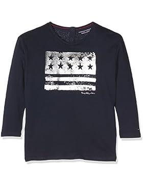 Tommy Hilfiger Mädchen Langarmshirt Ame Girls Flag CN Knit L/S