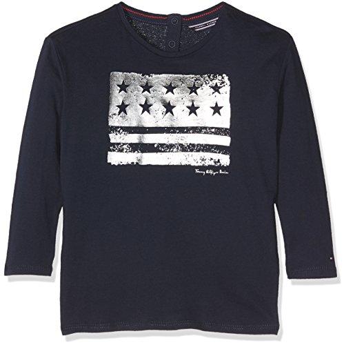 Tommy Hilfiger Mädchen Pullover Ame Girls Flag CN Knit L/S, Blau (Navy Blazer 431), 110 (Herstellergröße: 5)