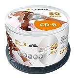 xlyne CD-R 700 MB CD-ROM Rohlinge – 50er Cakebox – 52x Speed – 80 Min – Optical Media, Audio, Film, Foto
