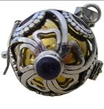 Un Amour d'ambre - BAYAM - Bayi Ciondolo in argento massiccio - 20-21 cm