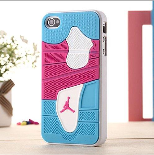 Air Jordan Soft Handy Case für Apple iPhone 5/5S,/+ & Samsung Galaxy S5Sohle 4, Thermoplastisches Polyurethan, rosa/blau, Apple iPhone 5/5S -