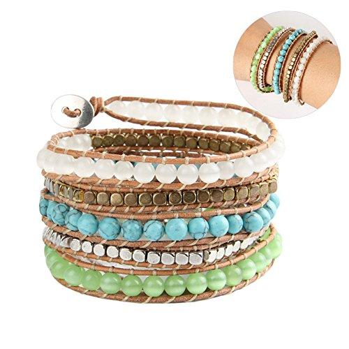 tenflyer-newest-antique-charming-bracelet-opal-bead-5-leather-bracelet-handmade-turquoise-metallic-b