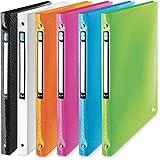 ELBA 400060038 Kunststoff-Ringbuch Art 12er Pack mit 2cm Rückenbreite und 4 Ringen zum Abheften von A4 Dokumenten, in 6 Farben