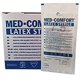 Med-comfort Lot de 50 paires de gants chirurgicaux stériles en latex non poudrés