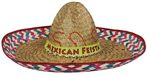 18x mexikanischen rot Sombrero mit mexikanischen fesita Band Unisex Fancy Kleid machen Junggesellen Night Party Wild West Western Strohhut (Western-dress Ideen Up)