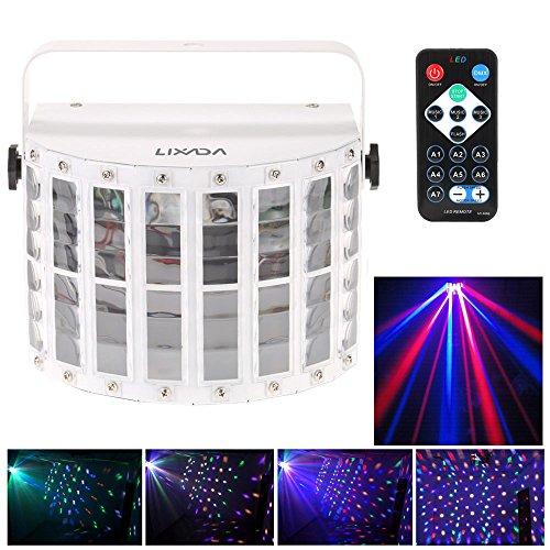 Docooler 100-240V 24W RGBW LED 6 Canale Dmx 512 vocale Voice-control Controllo...