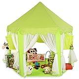 KIDUKU® Tienda de juego para niños castillo para jugar castillo de princesa tienda de campaña para niños cueva de juego para niños, disponible en tres colores (Verde)