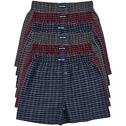 6 Bedruckte & weiche 100% Baumwoll Herren Boxershorts Boxer Short in 6 oder 3 modischen Farben im 6er Set verfügbar in S M L XL 2XL 3XL 4XL & 5XL 6XL (5XL-11, Set10)