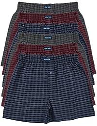 MioRalini 6 Imprimés et Doux 100% Coton Hommes Boxeurs Short Boxer Doux  Disponibles dans des Couleurs à la Mode… 0414b0121410