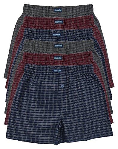 6 bedruckte & weiche 100% Baumwoll Herren Boxershorts Boxer Short in 6 oder 3 modischen Farben im 6er Set verfügbar in S M L XL 2XL 3XL 4XL & 5XL 6XL, Set10, M-5
