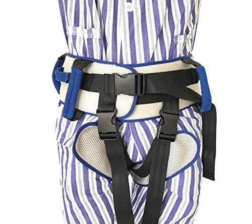 51VxmdXCqoL - Cinturón de transferencia con lazos de pierna, seguridad de enfermería médico dispositivo de asistencia de Gait-terapia ocupacional y física para Bariatría, pediátrica, ancianos (azul)