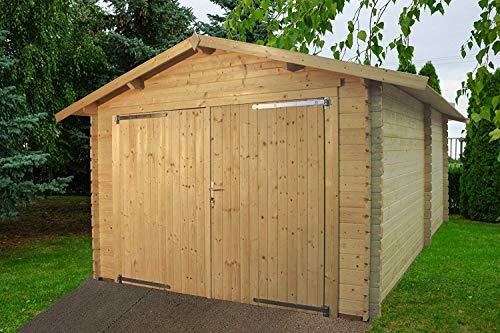Garage eco - box auto in legno da giardino gartenpro