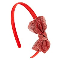 Claires Girls and Womens Sparkly Bow Headband
