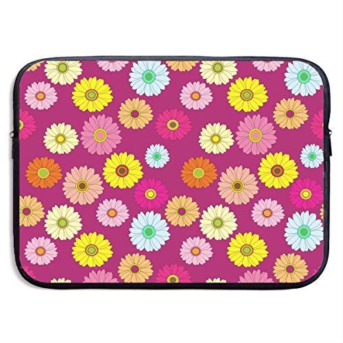 Benutzerdefinierte Laptop-Hülle 13/15 Zoll Chromebook Reißverschluss Aktentasche Blüten Muster Bunte Print Portable Messenger Bag, 15 Zoll