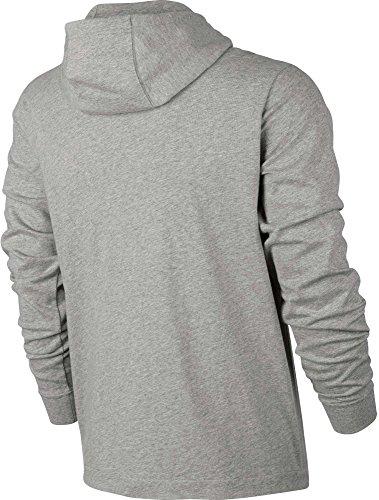 Nike Sportswear Men's Full-Zip Hoodie Dk Grey Heath/Blk/Wht