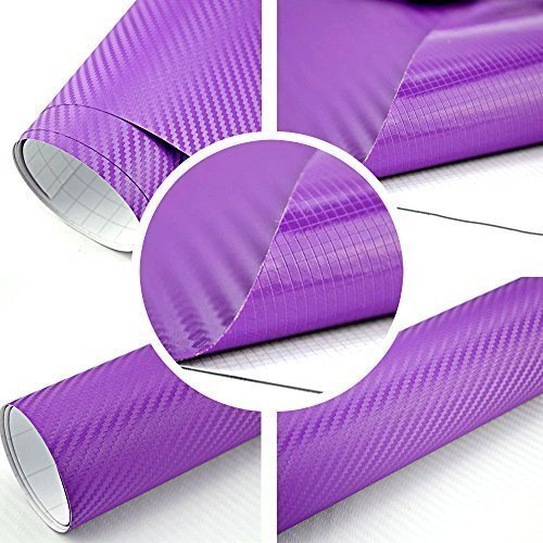3D Carbon Folie lila BLASENFREI 2m x 1,52m mit Luftkanäle (Lila Carbon)