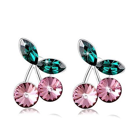 PLATO H Swarovski Eléments Cristal Mode Boucles D'Oreilles