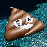 Riesiges Aufblasbares Spielzeug Riesen Emoji Lustig Schwimmen Ring Scheiße Aufblasbar Pool Schweben...