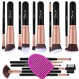 BESTOPE Make up Pinsel Set 16 Stück Premium Kosmetik mit Synthetisches Haar Pinselset kosmetik Kabuki Foundation Blush Eyeshadow Eyeliner Schminkpinsel Kosmetikpinsel set mit Pinselreiniger (Rosa Gold)