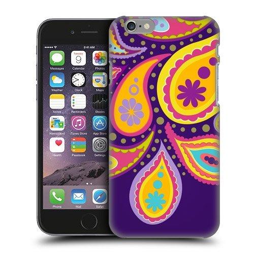 iPhone6 case-purple Big Paisley