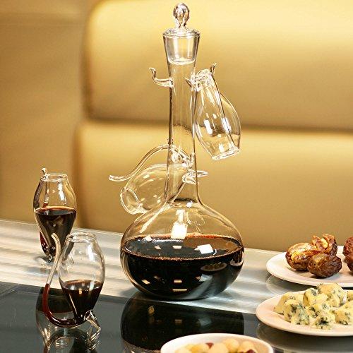 bar@drinkstuff - Juego de decantador y 4 vasos (cristal)