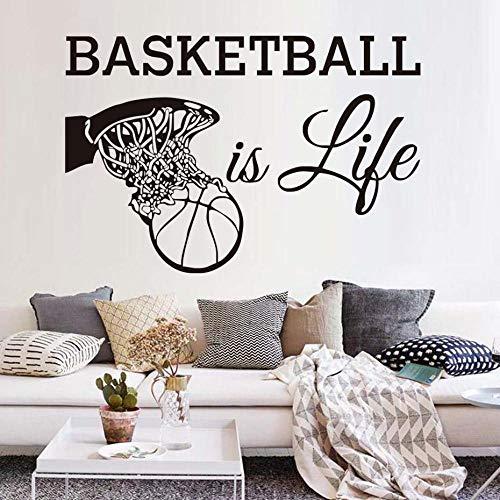Wandtattoos Sport Fans Vinyl Removable Home Decor Basketball In Den Korb Wandaufkleber Für Jungen ()