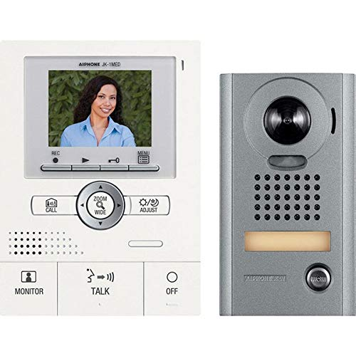 Aiphone jks-1aedv Audio/Video Intercom Set with Picture Recording for Single Door, surface-mount vandal-resistant Door Station by Aiphone Aiphone Intercom