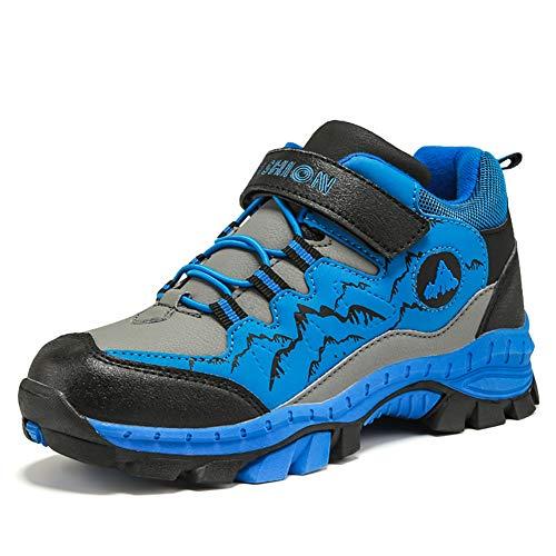 Licy Life-UK Garçon Fille Bottes Chaussures de Randonnée Respirant Multisport Outdoor Sneakers Imperméable Inusable pour Escalade Trekking Travail Promenades