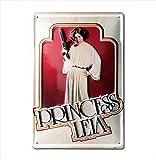 Star Wars - Prinzessin Leia Bleschilder Retro - Blechschild Vintage Film - 20x30 - Lizenziertes Originaldesign - LOGOSHIRT